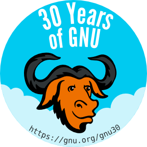 GNU 30th anniversary celebration